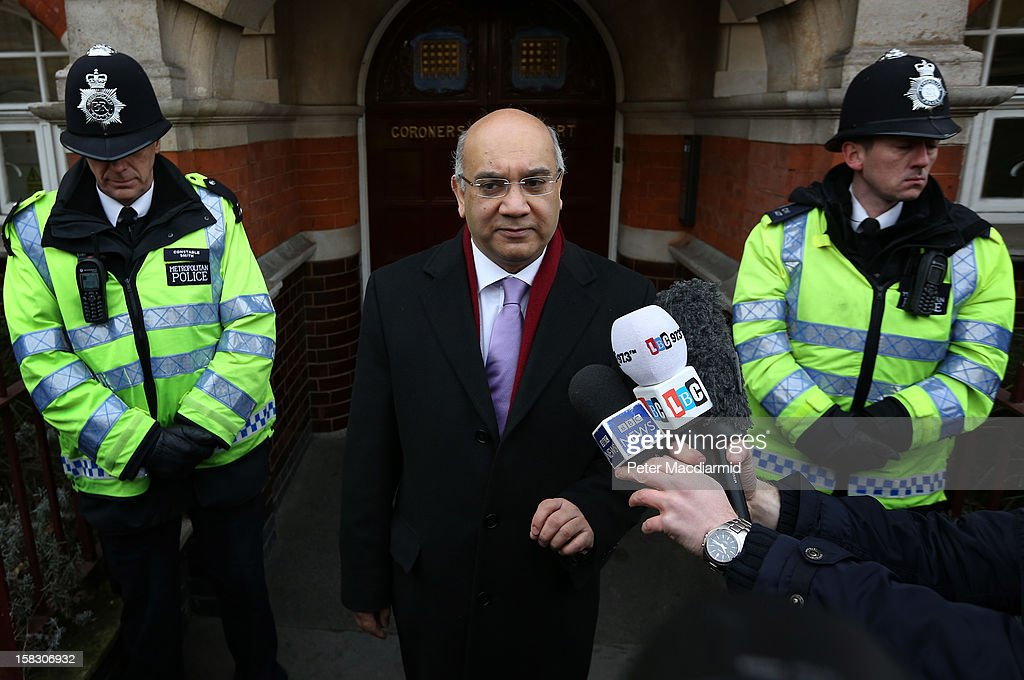 Member of Parliament Keith Vaz talks to reporters on behalf of the Saldanha family at Westminster Coroner's Court on December 13, 2012 in London, England. An inquest into the death of a nurse Jacintha Saldanha from the King Edward VII Hospital has been opened and adjourned until 26 March. The nurse was hoodwinked by a prank call to the London hospital treating the Duchess of Cambridge was later found hanged, the inquest was told.