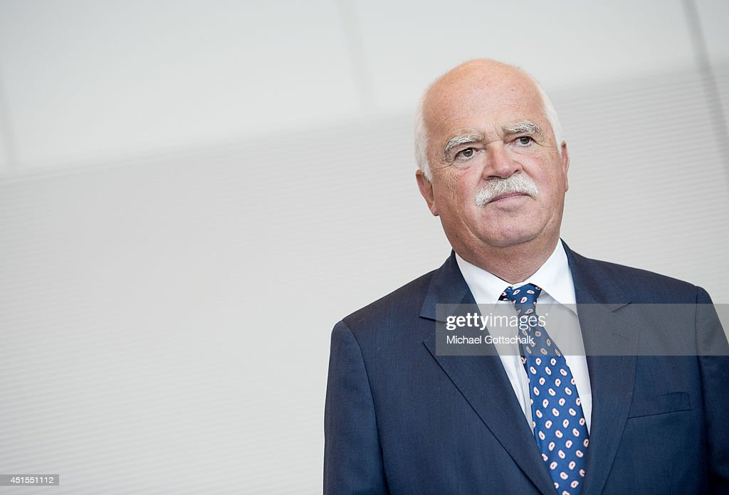 Member of Parliament Peter Gauweiler (CSU), attends a working session of CDU faction in German Bundestag on July 01, 2014 in Berlin, Germany.