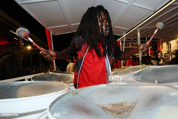 A member of Phase II Steel Orchestra performs during the Panorama Finals competition in the Queen's Park Savannah on Feb 10 2018 in Port of Spain...