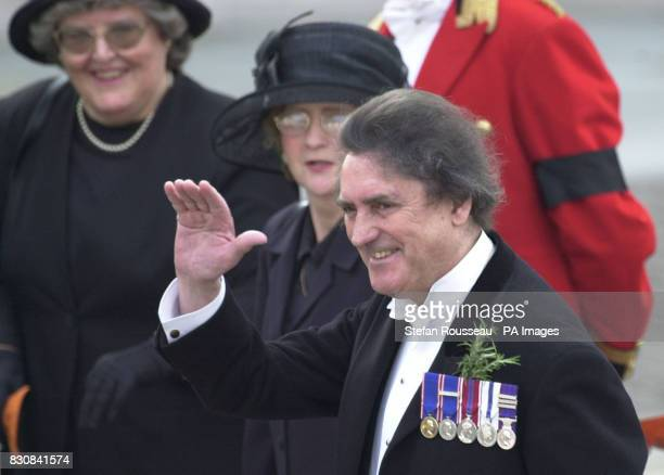 Member of Queen Elizabeth the Queen Mother's staff Billy Tallon arrives at Westminster Abbey London for the funeral of Queen Elizabeth the Queen...