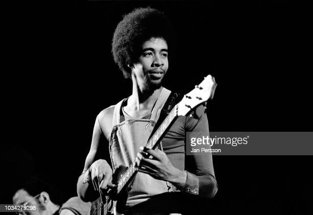Member of Return to Forever American jazz bassist Stanley Clarke at Jazzhus Montmartre Copenhagen, Denmark, January 1975.