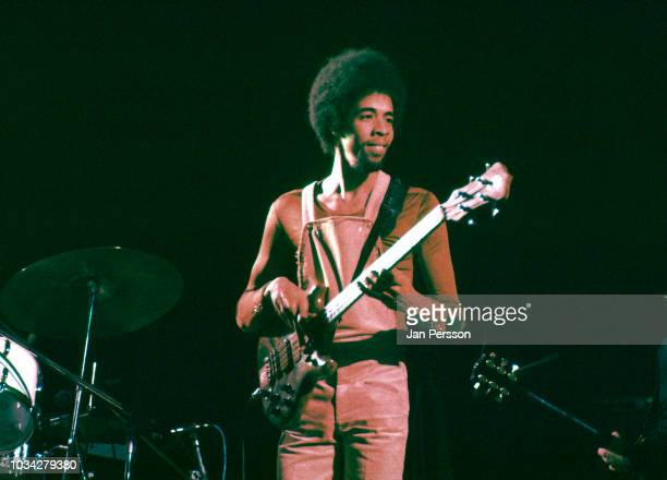Member of Return to Forever American jazz bassist Stanley Clarke at Jazzhus Montmartre, Copenhagen, Denmark, January 1975.