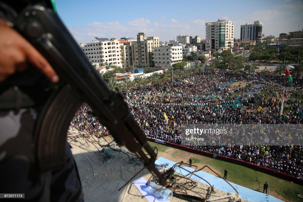 A rally marking the death anniversary of  Yasser Arafat : News Photo