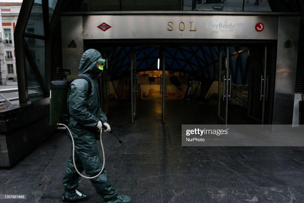 Madrid Under Its 6th Day Of Lockdown Due Coronavirus : News Photo