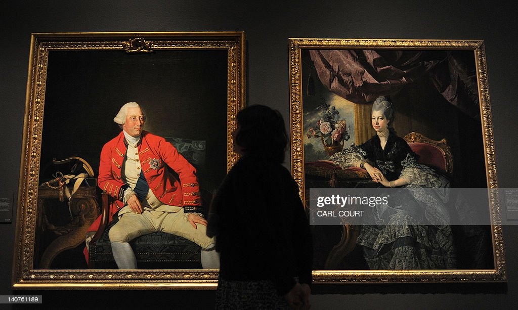 A member of staff poses between 1771 por : News Photo