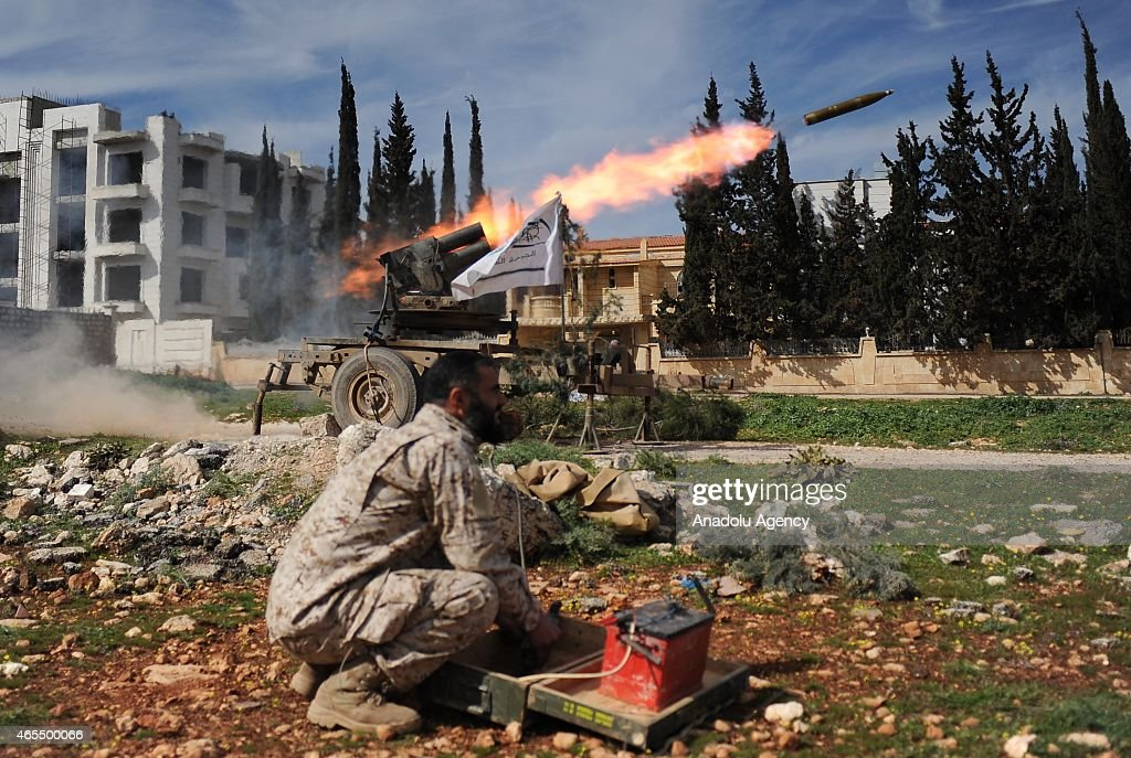 Syrian oppositions attack Assad regime forces in Aleppo : News Photo