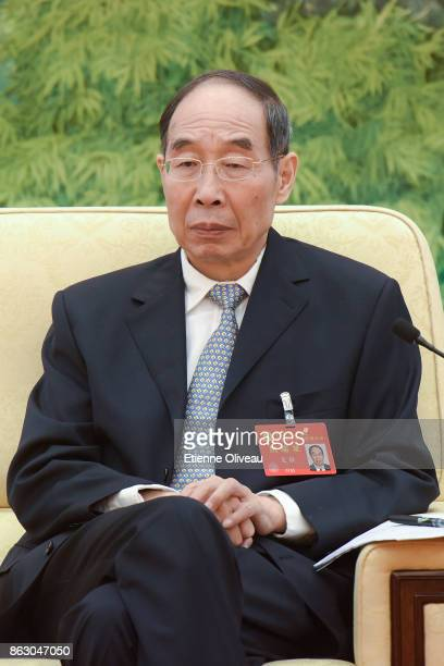 Member of the 18th CPC Central Committee and Secretary of CPC Fujian Provincial Committee You Quan attends a meeting of the 19th Communist Party...