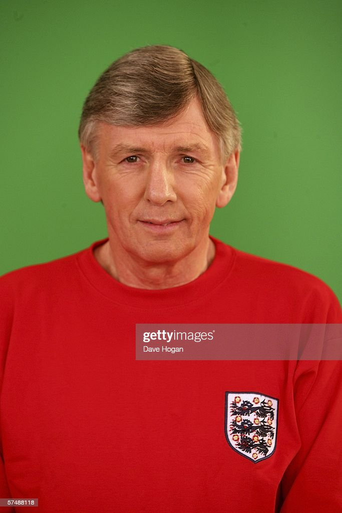 Member of the 1966 England World Cup team Martin Peters is filmed for the video to accompany an England World Cup song 'Who Do You Think You Are Kidding, Jurgen Klinsmann,' at Camden Studios on April 28, 2006 in London, England. British sporting celebrities Sir Geoff Hurst, Frank Bruno and Martin Peters and actor Bill Pertwee join the Tonedef All-Stars at the shoot. The single is due for release on May 29, 2006.