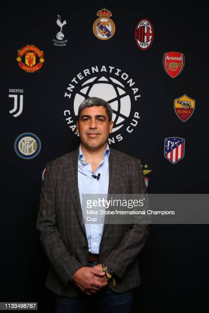 Member of the 1994 US World Cup team Claudio Reyna attends day three of the International Champions Cup launch event at 107 Grand on March 29 2019 in...