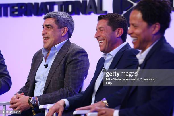 Member of the 1994 US World Cup team Claudio Reyna speaks during 'Home Field Advantage '94 World Cup' panel during day three of the International...