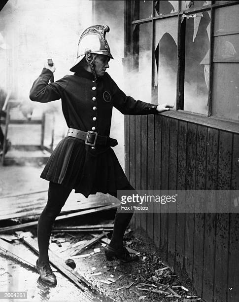 A member of the Achille Serre Ladies Fire Brigade in London