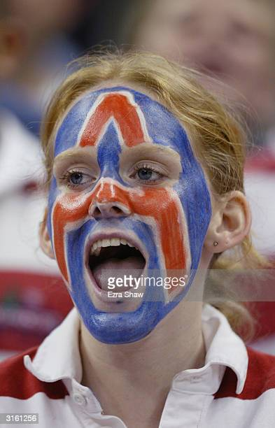 A member of the Arizona Wildcats band during the first round game of the NCAA Division I Men's Basketball Tournament against the Seton Hall Pirates...