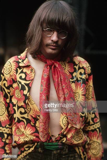A member of the band Steppenwolf wears a red and yellow paisley shirt Steppenwolf is best remembered for the song 'Born to Be Wild' used in the...