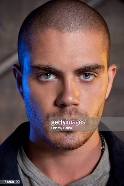 Member of the band the Wanted Max George is photographed for YRB Magazine on March 29 2013 in Los Angeles California