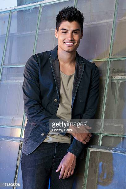 Member of the band the Wanted Siva Kaneswaran is photographed for YRB Magazine on March 29 2013 in Los Angeles California