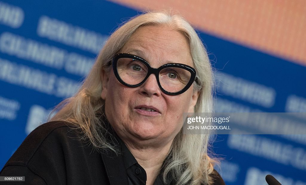 Member of the Berlinale Film Festival jury French photographer Brigitte Lacombe attends a press conference in Berlin on February 11, 2016. The 66th Berlin film festival starts on February 11, 2016 with a spotlight on Europe's refugee crisis. / AFP / John MACDOUGALL