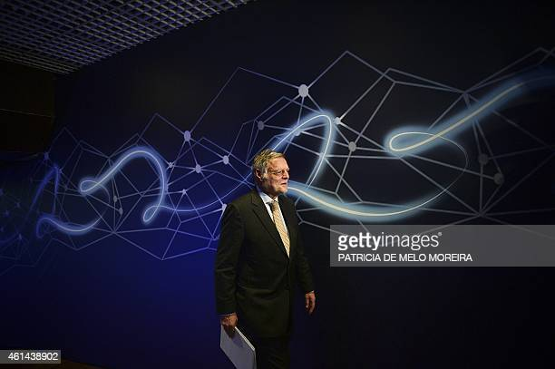 Member of the board of directors and chairman of the audit committee of Portugal Telecom Joao de Mello Franco arrives for the general meeting of...