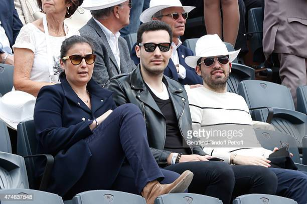 Member of the Board of Directors of L'Oreal JeanVictor Bettencourt Meyers and his brother Nicolas Bettencourt Meyers attend the 2015 Roland Garros...