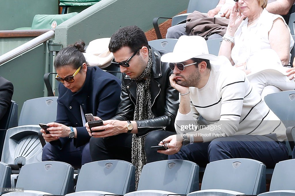 Celebrities At French Open 2015  - Day One : Nieuwsfoto's