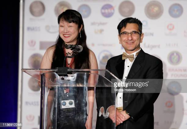 Member of the Board of International Brain Mapping Foundation Dr Vicky Yamamoto and Chairman/CEO SBMT President of Brain Mapping Foundation Dr Babak...