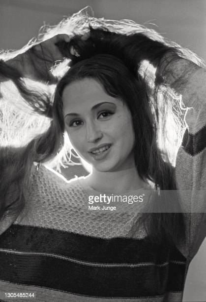Member of the Bolshoi Ballet troupe poses for a portrait in the dressing room at the Cheyenne Civic Center on April 22, 1998 in Cheyenne, Wyoming....