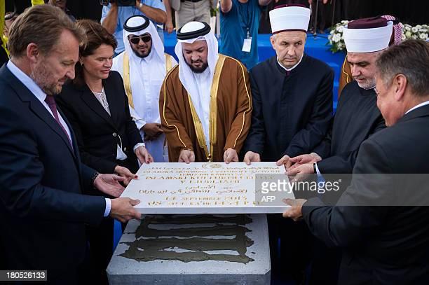 Member of the BosniaHerzegovina Presidency Bakir Izetbegovic Slovenian Prime Minister Alenka Bratusek Qatar's Minister of Awqaf and Islamic Affairs...
