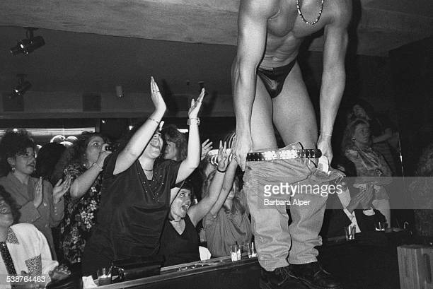 A member of the Chippendales performs in New York City May 1993