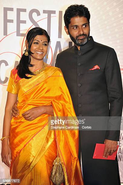 Member of the Cinefondation and short film jury Nandita Das with husband Subodh Maskara attend the 'Palme D'Or Winners dinner' during the 66th Cannes...