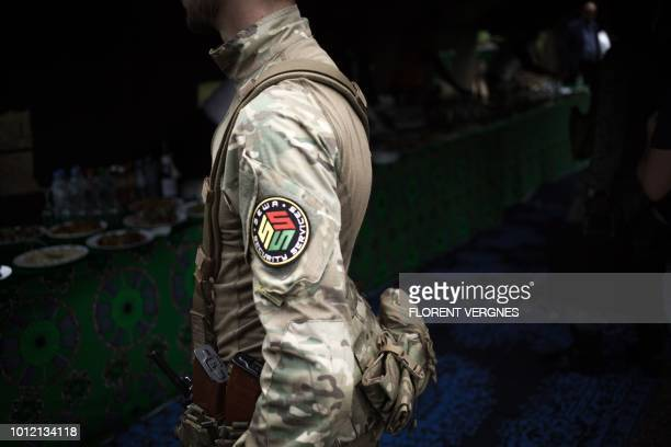 Member of the close protection unit for Central African republic President Touadera, composed by Russian private security company operatives from...