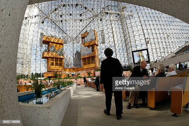 A member of the congregation arrives for the 11am service at The Crystal Cathedral in Garden Grove on Sunday September 24 2010 The church filed for...