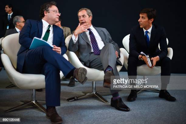 Member of the European Parliament and former leader of the UKIP, Briton Nigel Farage, member of the European Parliament Portuguese Francisco Assis ,...