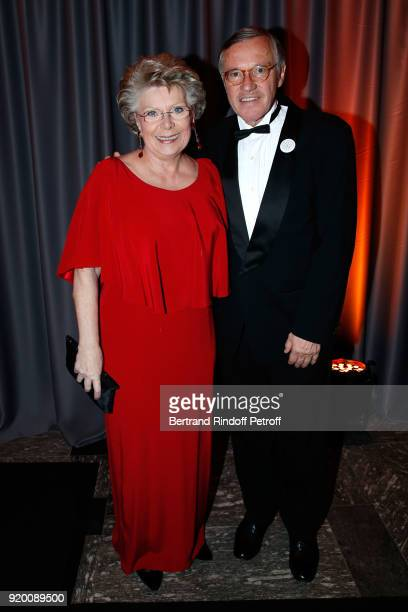 Member of the European Parliament Vivian Reding and President of the 'Snow Night La Nuit des Neiges' Francois Barras attend the 'Snow Night La Nuit...