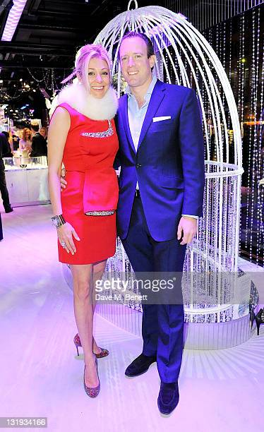 Member of the Executive Board of Swarovski Crystal Business Nadja Swarovski and Rupert Adams attend the launch of 'A Crystal Christmas Inspired By...