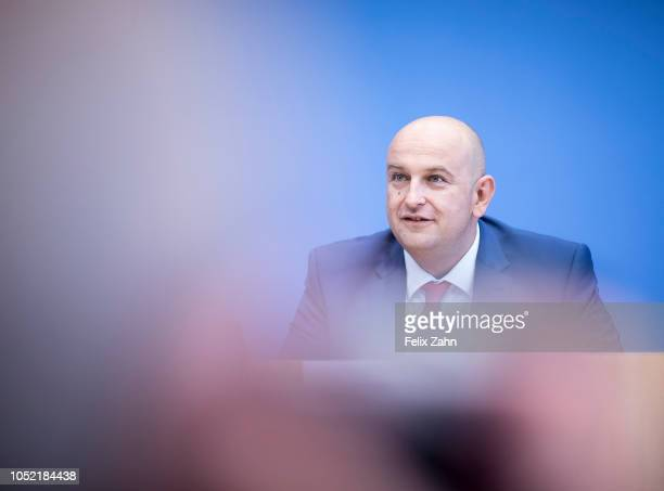 Member of the farright Alternative fuer Deutschland party Stephan Protschka gives a statement on the aftermath of the Bavarian state elections on...