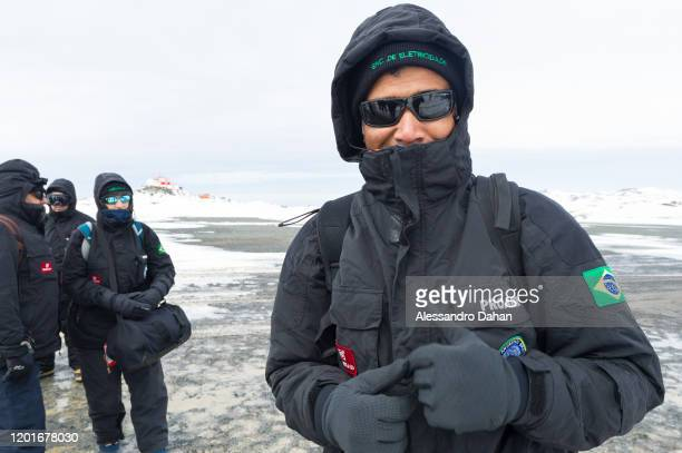 Member of the Ferraz Base Group in charge of electricity station on November 04 2019 in King George Island Antarctica