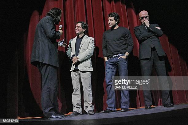 Member of the Festival JeanChistophe Berjon Venezuelian film director Alberto Arvelo Venezuelian actor Edgar Ramirez and prdouctor Miguel Pirello are...