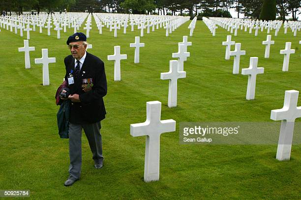 A member of the Folkstone branch of the Normandy Veterans Association a British organization of World War II veterans who participated in the DDay...
