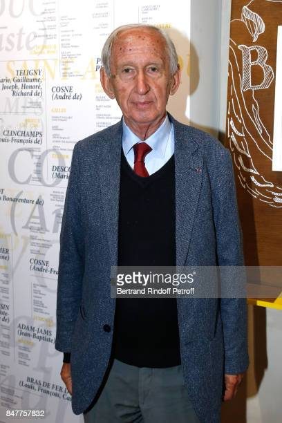 Member of the French Academie Jean Tulard attends Members of the Stephane Bern's Foundation for 'L'Histoire et le Patrimoine' visit the 'College...