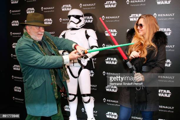 Member of the French Academy Marc Lambron and Delphine Marang Alexandre attend the Star Wars x Renault Party at Atelier Renault on December 13 2017...