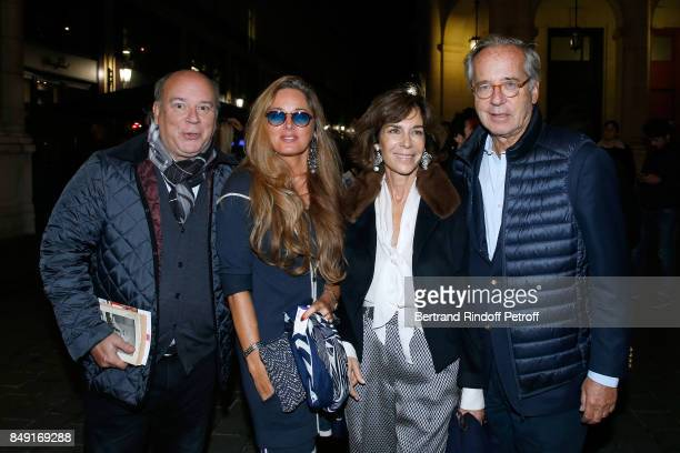 Member of the French Academy Marc Lambron his companion Delphine Marang Alexandre Christine Orban and her husband Olivier Orban attend La vraie vie...