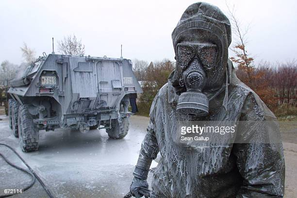 A member of the German Chemical Corps a part of the German military that specializes in antinuclear chemical and biological weapons operations is...