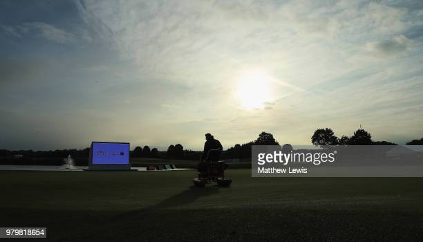 Charlie Ford of England tees off o nthe 1st hole during day one of the BMW International Open at Golf Club Gut Larchenhof on June 21 2018 in Cologne...