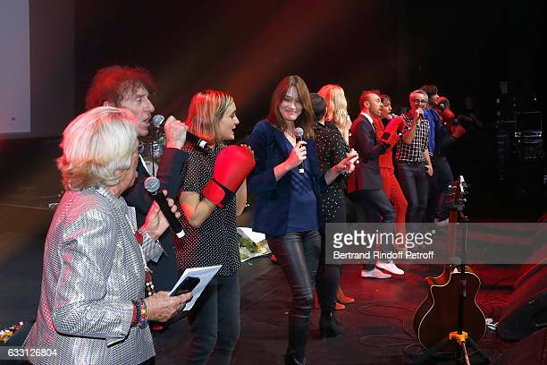 Member of the Honor Committee of the Association for Research on Alzheimer's Veronique de Villele Alain Souchon Guest Carla Bruni Sarkozy Sandrine...