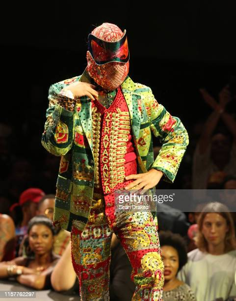 Member of the House of Xtravaganza competes in the category Butch Queen Runway Hector Xtravaganza Interpretation of the Billy Porter tuxedo gown at...