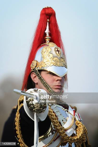 A member of the Household Cavalry parades at the 'Major General's Review' in Hyde Park on March 29 2012 in London England Major General George Norton...