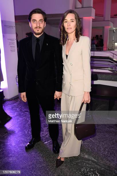 Member of the International Jury Luca Marinelli and Alissa Jung attend the opening party during the 70th Berlinale International Film Festival Berlin...