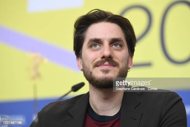 Member of the International Jury Luca Marinelli is seen at the International Jury press conference during the 70th Berlinale International Film...