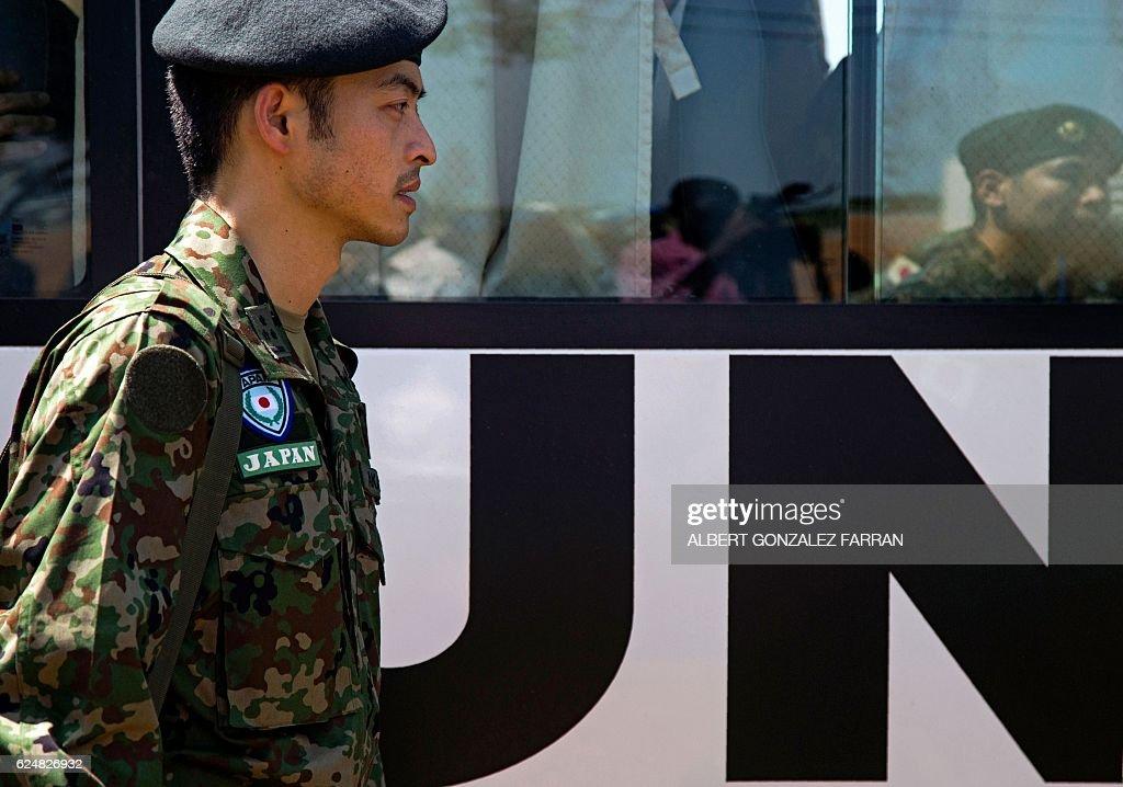SSUDAN-JAPAN-UN-DEFENCE : News Photo