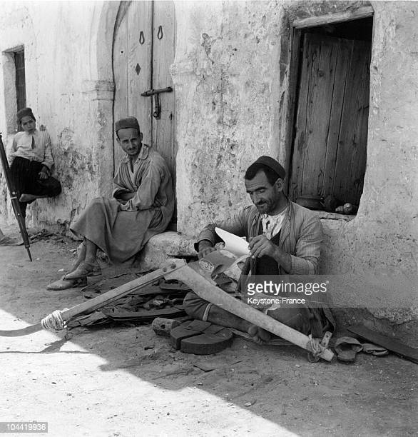 Member Of The Jewish Community Of Tunisia Repairing A Plough Shear In A Street Of Djerba Around 19501960