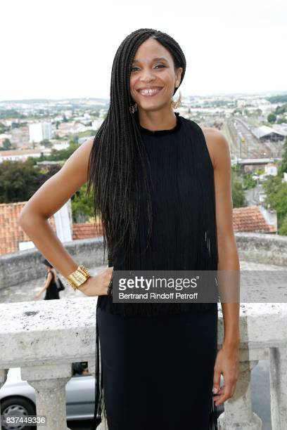 Member of the Jury actress Stefi Celma attends the 10th Angouleme FrenchSpeaking Film Festival Jury Photo Call on August 22 2017 in Angouleme France